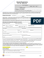 2015-2016 Student Registration Form