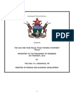 Zimbabwe 2015 Mid-term Fiscal Policy