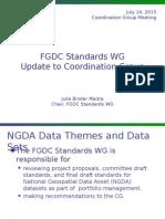 July 2015 FGDC Standards WG update