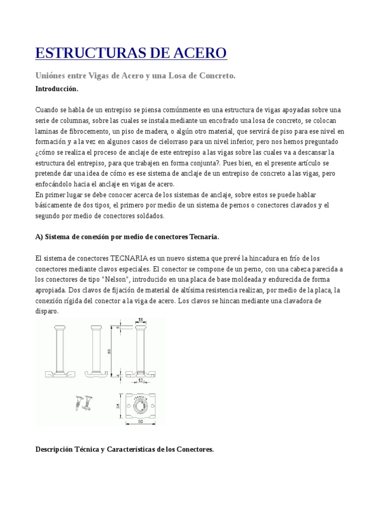 Estructuras de Acero - Detalles
