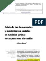 Boron, Crisis de La Democracia y MMS