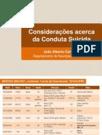 João Alberto Carvalho Considerações Acerca Da Conduta Suici Da 28.01.2015