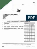 Percubaan UPSR 2015 - Pahang - Matematik Kertas 2