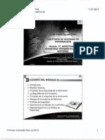 Modulo II Aspectos de Seguridad Informatica y Sistemas