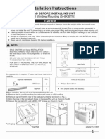 Kenmore AC Installation Instructions
