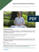 Kurze Atem-Meditation Pranayama Für Erholsamen Schlaf