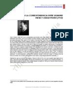 Fragmento De La Correspondencia Entre SigmundFreid Y Oskar Pfister