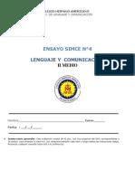 Ensayo 4 SIMCE II°, LENG 2015