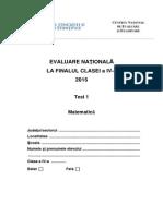 266787183 Test 1 Subiecte Matematica Evaluarea Nationala de La Finalul Clasei a IV A