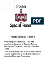 Troy Special Teams Playbook - Shane Wasden