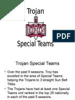 Troy Special Teams Playbook - Shane Wasden