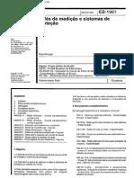 NBR 11770 EB 1961 - Reles de Medicao e Sistemas de Protecao