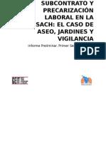 Informe Preliminar Subcontrao y Precarizacion Laboral - USACH 2015