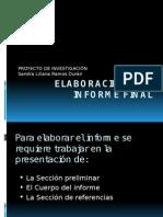 elaboracion del informe