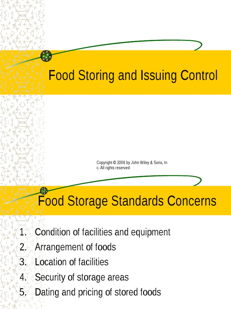 Dating and pricing of stored foods
