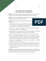 Reglamento Unidad Documentacion Biblioteca Junio 1999