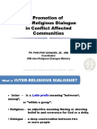 Promotion of Inter-Religious Dialogue in Conflict Affected