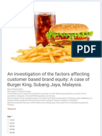 An Investigation of the Factors Affecting Customer Based Brand Equity