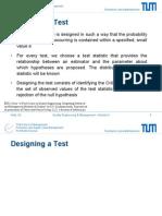 Designing Hypothesis Testing