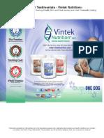 Testimonials for Vintek Nutrition updated  2015-7-30