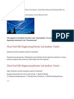 Chem Trail GEO Engineering Patents, Lab Analysis