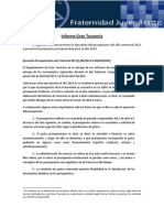 Informe Gran Tesorería Período Contable 2013