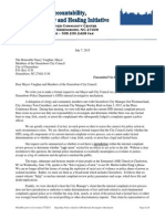 Letter Regarding Greensboro Police Complaint Review Process July 7 Letter to City Council