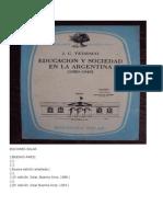 Tedesco, Educación y Sociedad en La Argentina