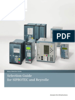 SIEMENS Relay Selection Guide A1 En SIPROTEC REYROLLE