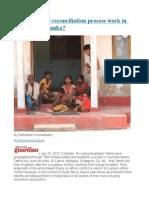 Part II Would Reconciliation Process Work in Post-war Sri Lanka