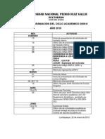 Reprogramacion Del Ciclo Academico 2009-II aÑo 2010