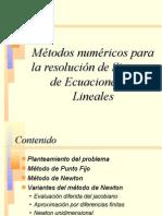 Metodos numericos para la resolucion de ecuaciones no lineales