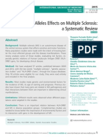 The HLA-DRB1 Alleles Effects on Multiple Sclerosis