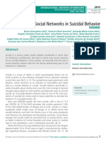 The Influence of Social Networks in Suicidal Behavior