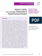Thyroid Gland Volume in Adults with Epilepsy