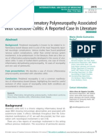 Chronic Inflammatory Polyneuropathy Associated With Ulcerative Colitis