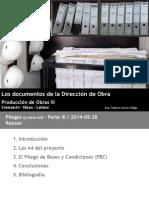Los Documentos de La Direccion de Obra Clase 2014-06-04