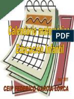 Calendario Matemático Educación Infantil