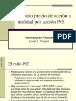 Price-Earnings ratio (precio-utilidad ó P/E)