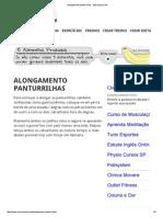 Alongamento panturrilhas - Musculacao