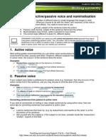 WC Sentences Active Passive Voice and Nominalisation