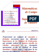 Matematicas de Campo Para Sup. de Taladro