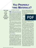 ARE YOU PROPERLY SPECIFYING MATERIALS? 2 of 3