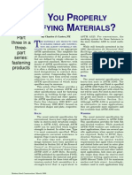 ARE YOU PROPERLY SPECIFYING MATERIALS? 3 of 3