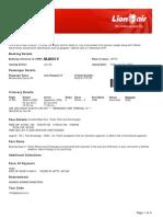 Lion Air ETicket (MJKHIV) - Muhammad