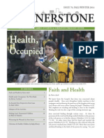 Cornerstone, Fall/Winter, 2014, Health & Occupation