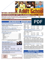 Fall 2015 Burbank Adult School Course Catalog