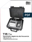 TM25m Telurímetro Digital de Alta Frecuencia