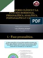 Laboratorio Clínico y Función Hormonal Final