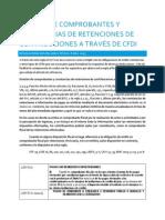 Emisión de Comprobantes y Constancias de Retenciones de Contribuciones a Través de CFDI